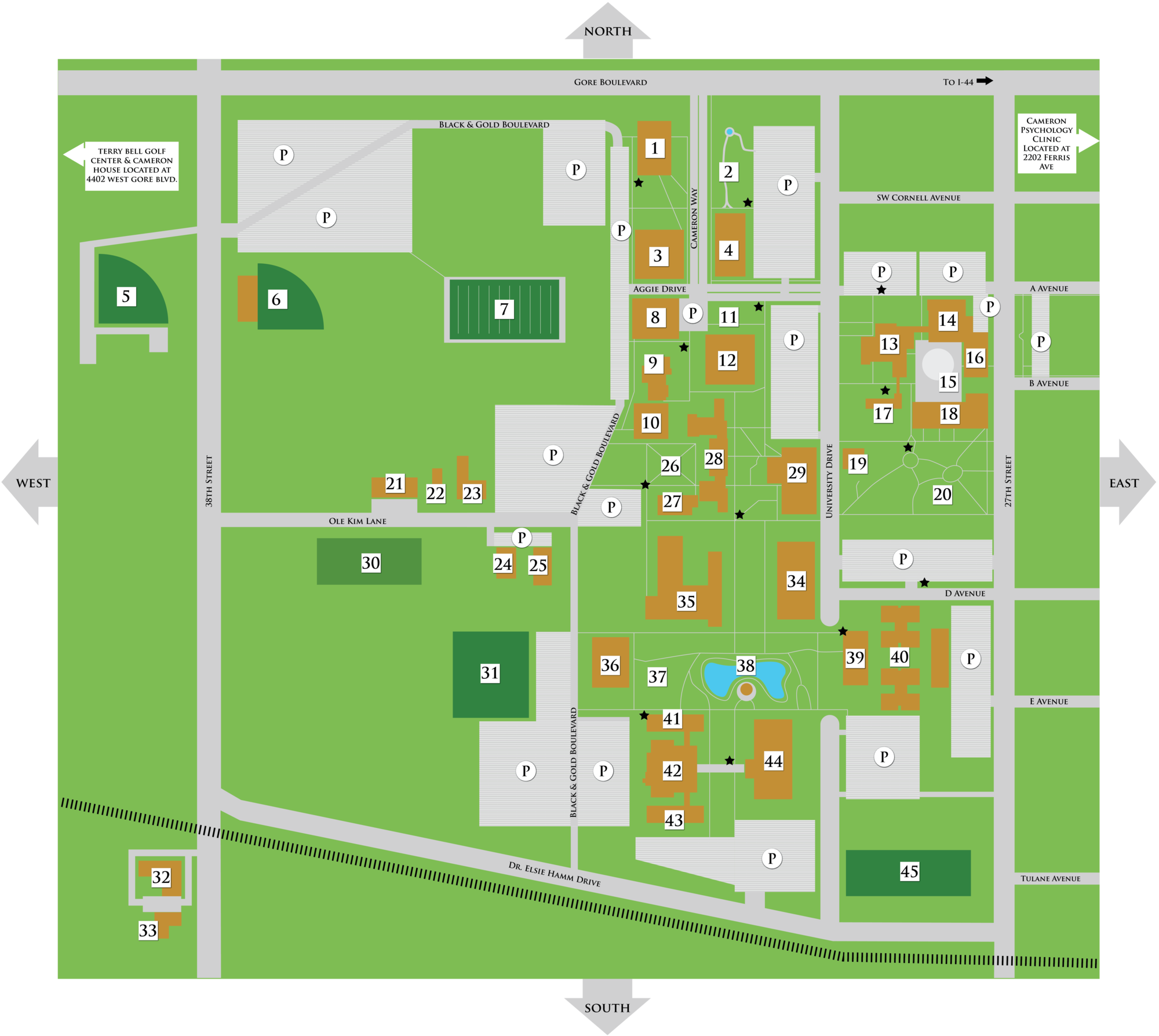 Cameron University Campus Map