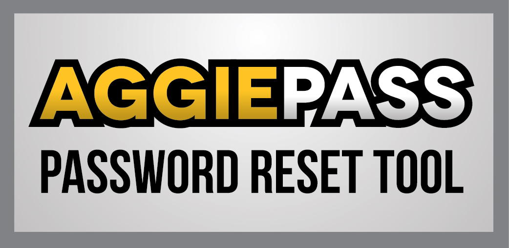 AggiePass, Password Reset Tool